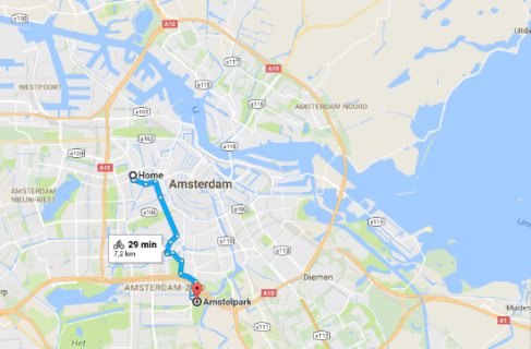 Route Amstelpark